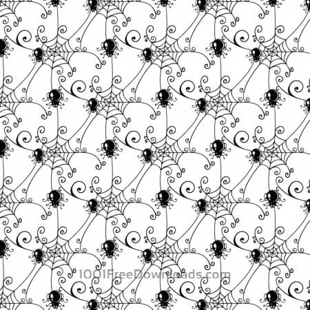 Free Pattern with spider web background