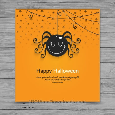 Free Halloween spider card