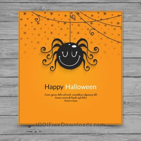 Halloween spider card