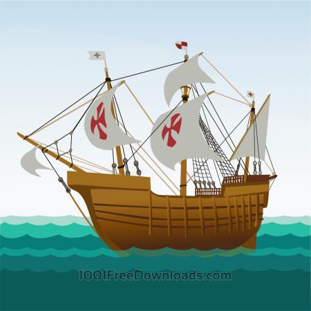 Free Sailing ship