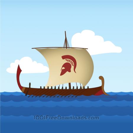 Free Greek Sailboat
