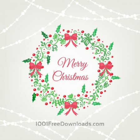 Free Christmas background with frame