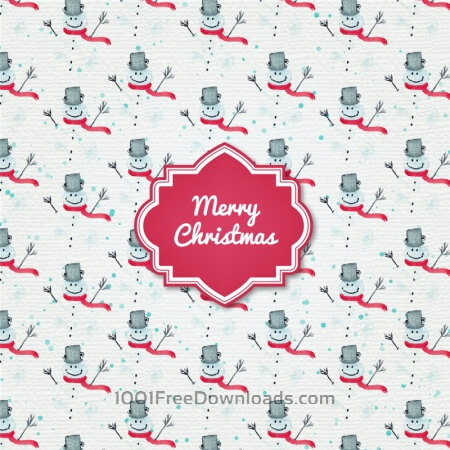 Free Christmas background with badge and santa
