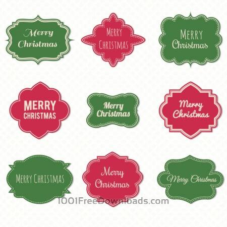 Free Christmas label set