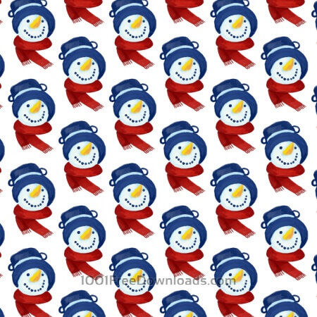 Free Christmas pattern with snowman head