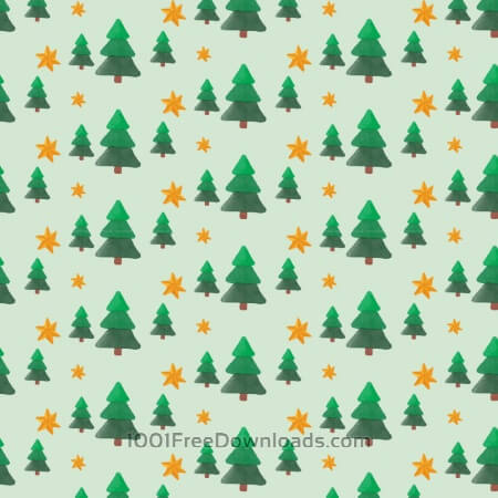 Free Christmas pattern with trees and stars