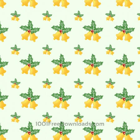Free Christmas pattern with leaves and bells