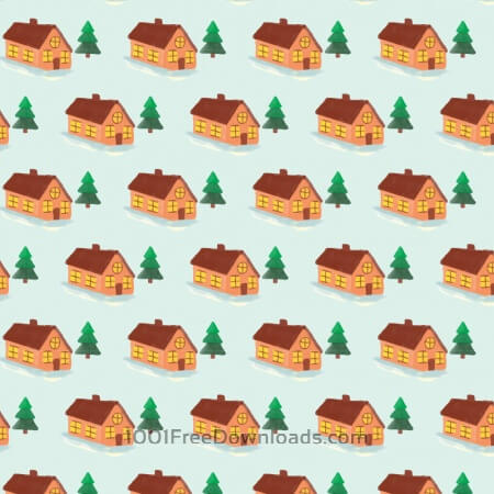 Free Christmas pattern with house