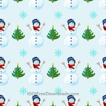 Free Christmas pattern  with snowman