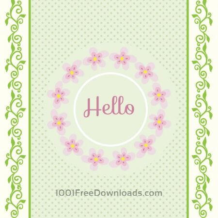 Free Spring illustration with frame