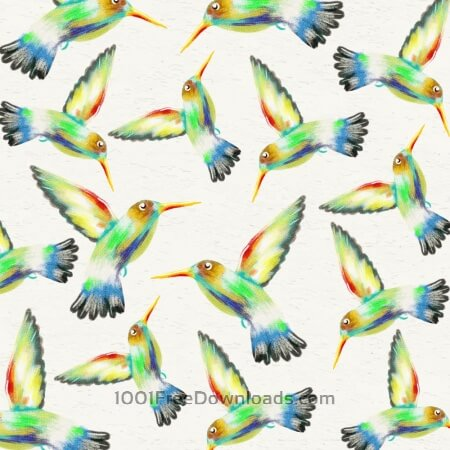 Free Watercolor background with hummingbirds