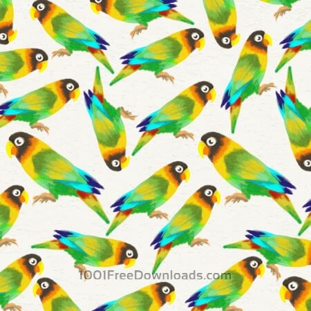Free Watercolor background with parrots