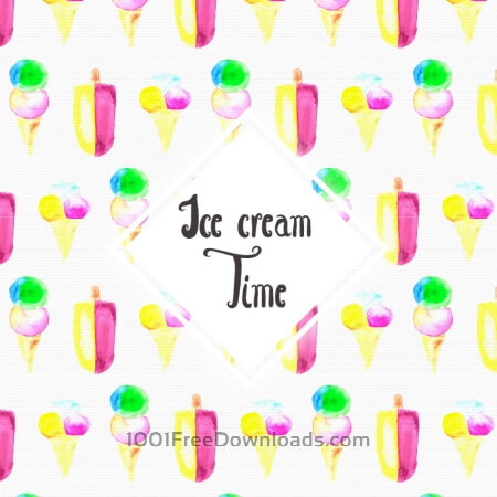 Free Watercolor Ice cream background