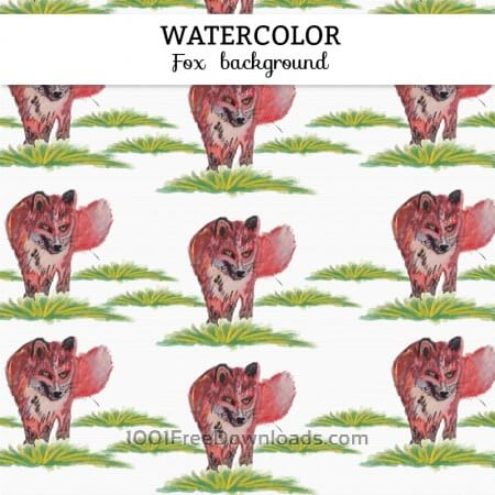 Free Watercolor fox background