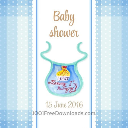 Free Watercolor baby shower