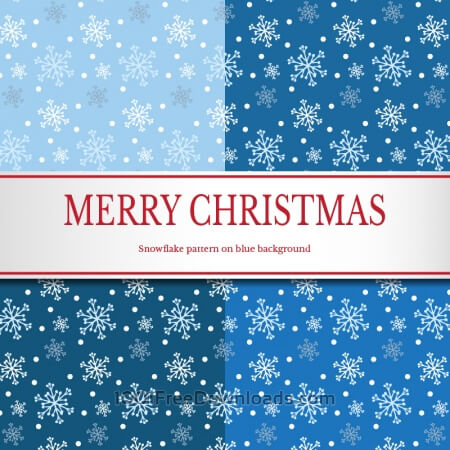 Free Christmas snowflake pattern
