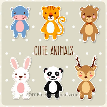 Free Cute set of animals