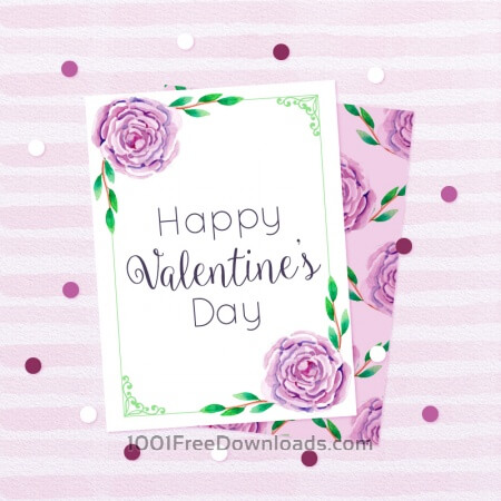 Free Beautiful Love Cards in Watercolor Style