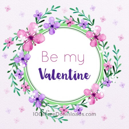 Free Valentine's Day Floral Frame