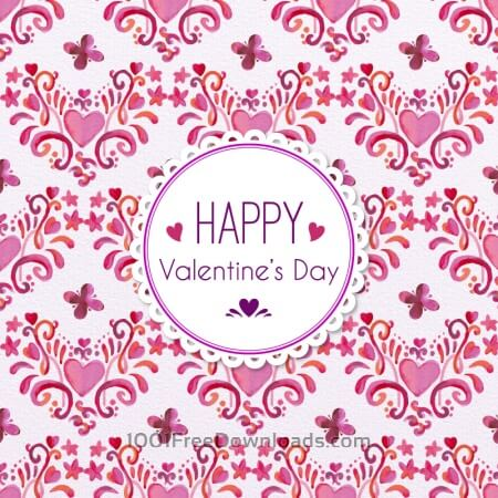 Free Romantic Floral Pattern