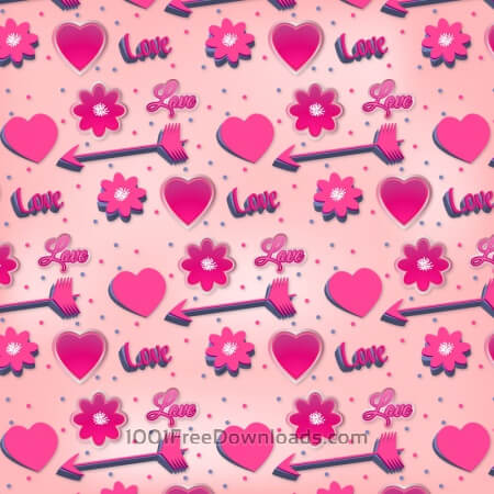 Free Romantic Pink Pattern