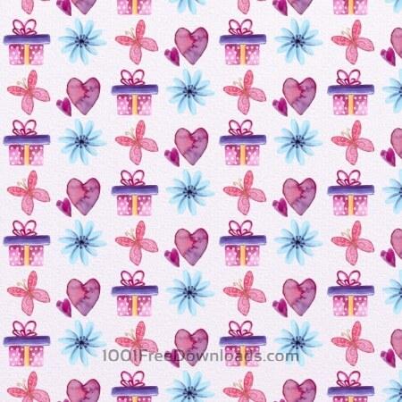 Free Cute Valentine's Day Pattern