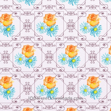 Free Elegant watercolor pattern