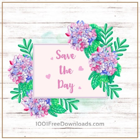 Free Watercolor wedding card