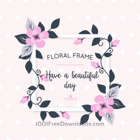 Free Floral card with flowers