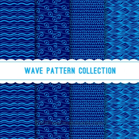 Free Blue wave pattern collection