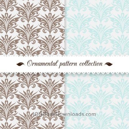 Free Vintage damask pattern