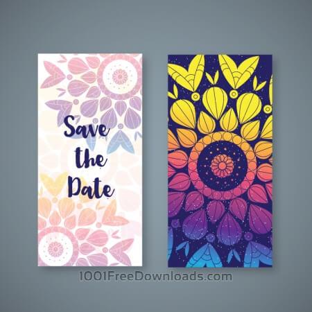 Free Colorful boho wedding banner