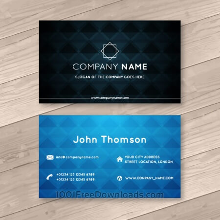 Free Abstract business cards