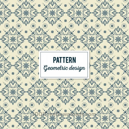 Free Creative Floral Geometric Pattern