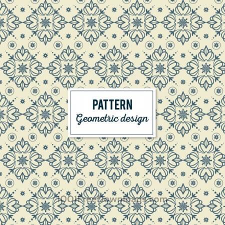 Free Creative Floral Geometric Pattern