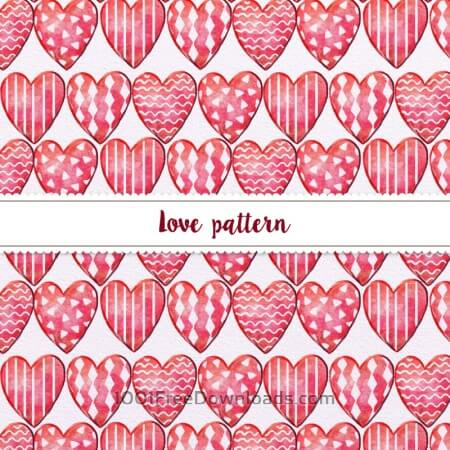 Free Hand-drawn Doodle Seamless Pattern With Hearts