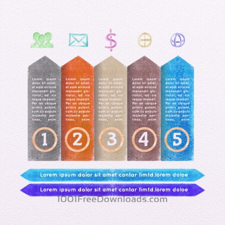 Free Vector Watercolor Infographic Set