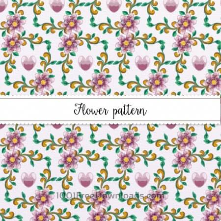 Free Watercolor Floral Pattern