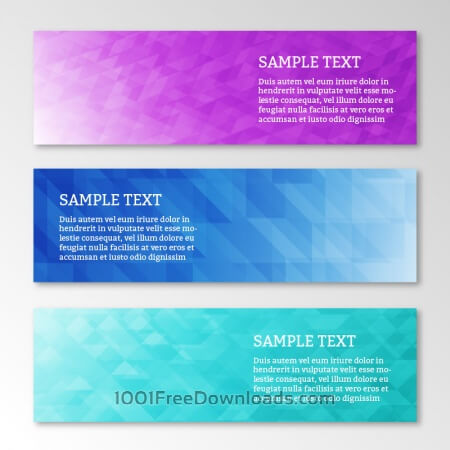 Free Abstract business geometric banners set