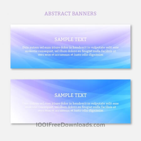 Free Abstract web banners set with waves design