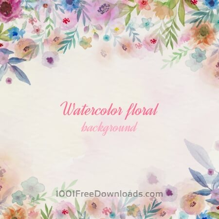 Free Watercolor flowers illustration