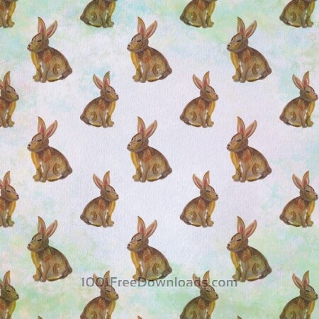 Free Seamless pattern with watercolor rabbits