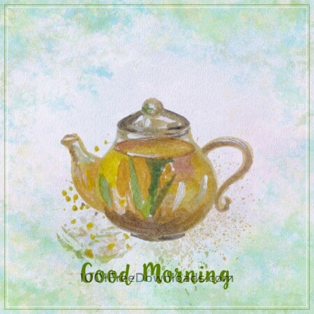 Free Watercolor teapot illustration. Watercolor hand drawn painted teapot