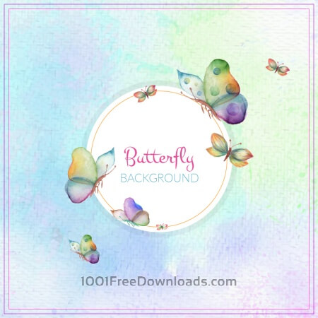 Free Abstract butterfly background
