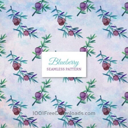 Free Blueberry seamless pattern