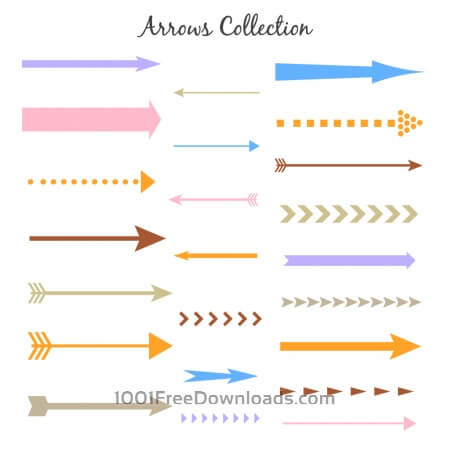 Free Set of colorful vector arrows