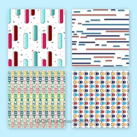 Free Creative vector seamless patterns