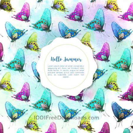 Free Watercolor butterfly background