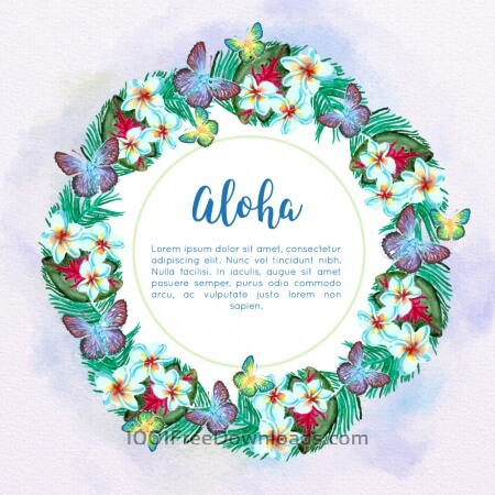 Free Watercolor tropical frame