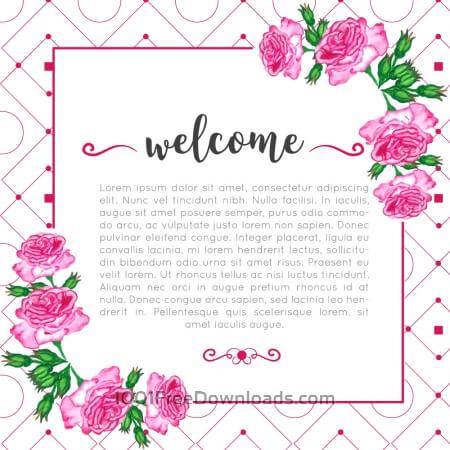 Free Floral invitation